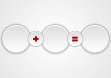 White circles concept web design Stock Photo