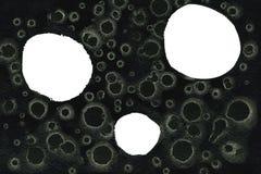 White circles on dark texture stock images