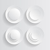 White circles Stock Photography