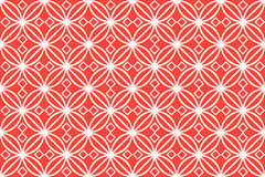 White circles red background Stock Images