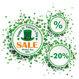 White Circles St Patricks Day Sale Stock Photography