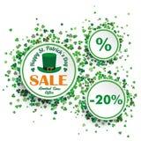 White Circles St Patricks Day Sale Stock Photography