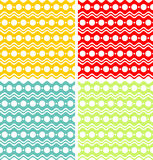 White circles and waves on colored backgrounds Stock Photo