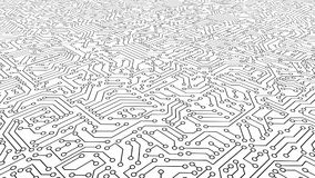 White circuit board pattern texture. High-tech background in dig. Ital computer technology concept. 3d abstract illustration stock illustration