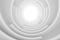 White Circular Building Stock Photo