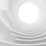 White Circular Building. 3d Abstract Architecture Background. White Circular Building Royalty Free Illustration