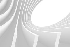 White Circular Design. 3d Abstract Architecture Background. White Circular Design Stock Illustration