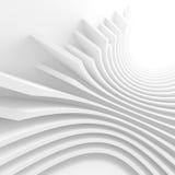 White Circular Tunnel. Modern Geometric Wallpaper. Futuristic  Royalty Free Stock Photo