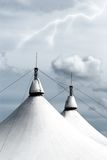 White circus tent Stock Photo