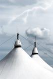 White circus tent. Under lightning Stock Photo