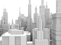 White city vector illustration