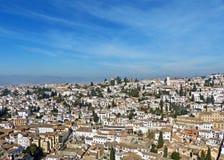 The White City of Albayzin in Granada, Spain Stock Photo
