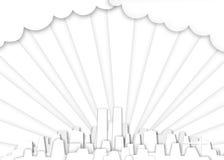 White city background Stock Image