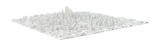 White City Buildings royalty free illustration