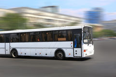 White city bus Stock Photos