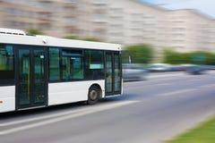 White city bus Royalty Free Stock Photos