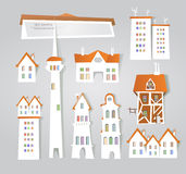 White city collection, City background Royalty Free Stock Images
