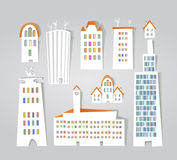 White city collection, City background Stock Photo