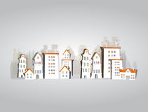 White city collection, city street background Royalty Free Stock Photo