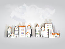 White city collection, city street background Stock Photos