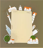 White city collection, paper templates Stock Image