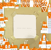 White city collection, paper templates Royalty Free Stock Photo