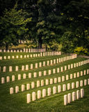 White Civil War Headstones Graves Kentucky Royalty Free Stock Images
