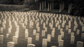 White Civil War Headstones Graves Kentucky Royalty Free Stock Photos