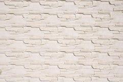 White cladding tiles imitating stones Stock Photography