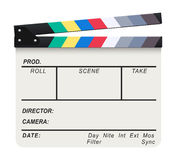 White Clapperboard. Vector illustration of a blank white and isolated movie clapperboard Stock Images
