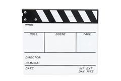 White Clapperboard (with Path) Stock Image