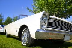 White Classic Car Stock Image