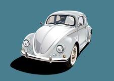 White classic car, illustration Royalty Free Stock Photos