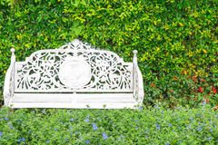 White classic chair in the garden Royalty Free Stock Photo