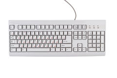White classic computer keyboard Royalty Free Stock Images