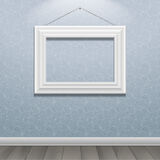 White classic frame on the wall Royalty Free Stock Photography