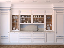 White classic kitchen. Royalty Free Stock Photography