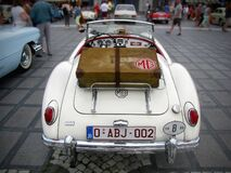 White Classic Mg Car Royalty Free Stock Photo