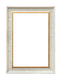 White classic painting canvas frame. Classic white painting canvas frame isolated on background stock images