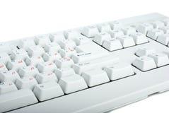 White classic PC keyboard fragment Stock Photos
