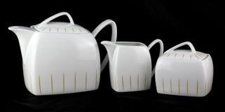 White Classic Porcelain Set Stock Photography