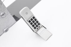 White classic telephone Royalty Free Stock Photo