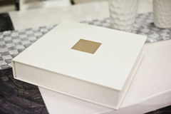 White classic wedding book Royalty Free Stock Photo