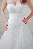 White classic wedding dress Royalty Free Stock Images