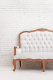 White classical style sofa Stock Image