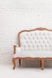 White classical style sofa Stock Image
