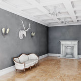 White classical style sofa in vintage room Stock Photo