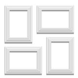White classis frame set on the wall Royalty Free Stock Images