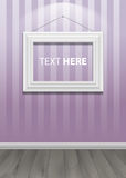 White classis frame on the wall. Vector Illustration Stock Photo