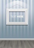 White classis frame on the wall. Vector Illustration Royalty Free Stock Image
